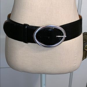 Lauren Ralph Lauren NWT  black leather belt